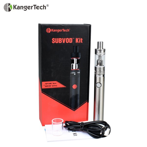 Clearance 100% Authentic Kanger SUBVOD Kit Electronic Cigarette Toptank Nano 3.2ml or 1.9ml Atomizer and 1300mAh Battery K