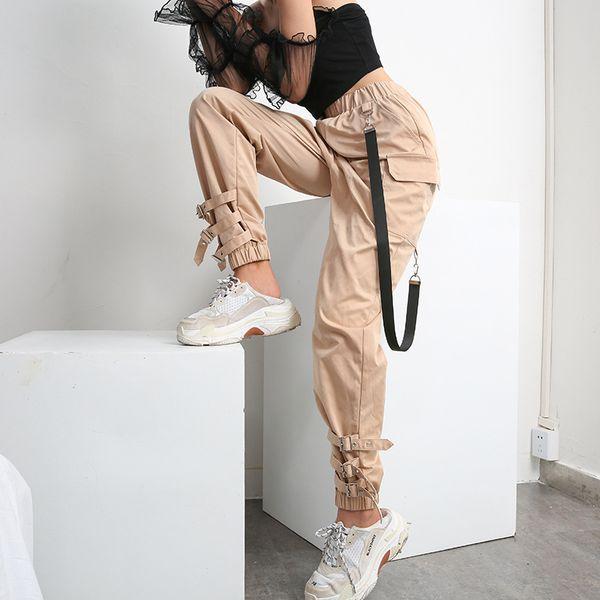 Neue Art und Weisefrauen keucht Gurtwerkzeugbestückungsdesigner-Trainingsnazug-Psychiaterstrumpf-Damen-Trainingseignungs-beiläufige Marke Multi-Beutel Hosenfrauenhosen