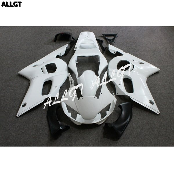 Ungestrichene weiße ABS Motorrad Verkleidungen Kit DIY BodyWork für YAMAHA YZF R6 1998 1999 2000 2001 2002 Vorgebohrt