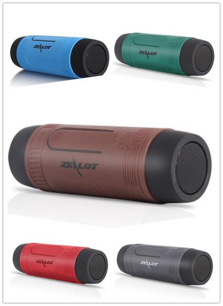 Bluetooth Speaker Outdoor 4000mAh Power Bank Bicycle Sports Portable Pulse Subwoofer Bass LED Flashlight +Bike Mount+Carabiner Zealot S1