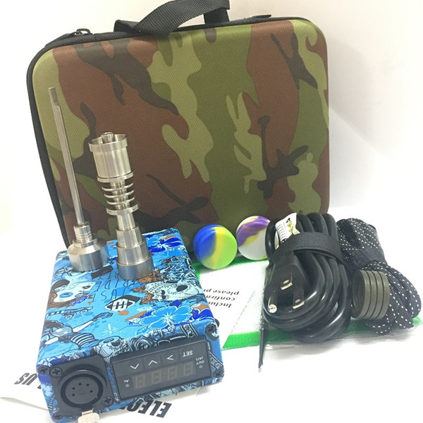 High Quality E nail Enail kits wax vapor portable dab rig Temperature control dabber box electric dab nail Wax Concentrate Oil