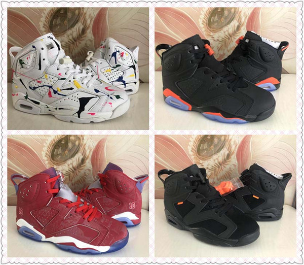 new style fd73e 32975 2019 Designer Men 6 Black Infrared 2014 Basketball Shoes Trainers Sneaker  Varsity Red White Mens Womens 6s Slam Dunk Sports Sneakers From Findjordan,  ...