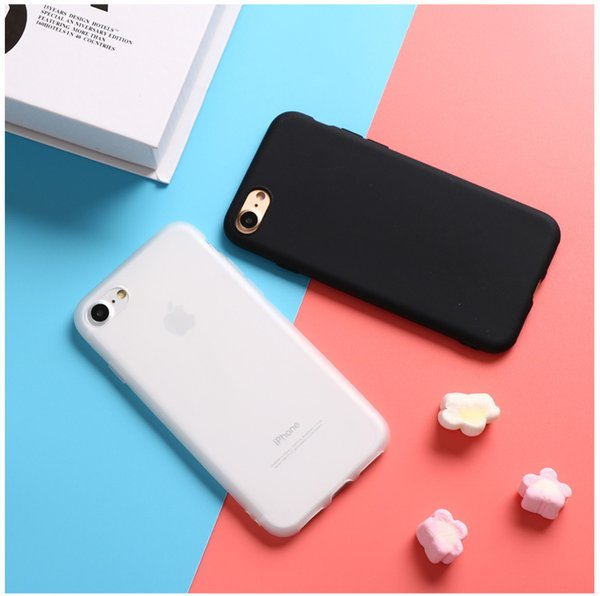 2018 Hot sale For iphone designer phone case X 10 Solid Color Ultrathin Soft TPU Cases Cute Candy Color Phone Case Back Cover