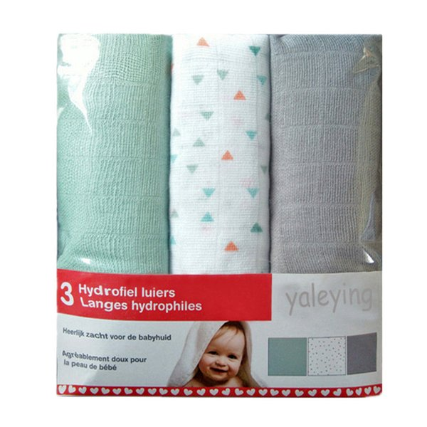 3 Pieces Muslin Baby Diapers Cotton Nappy Newborn Reusable Diapers Repeated Use Gauze Blanket Cloth Nappies 60*60 cm