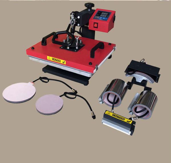 6 in 1 combo heat press machine video, cap heat press machine,t shirt machine