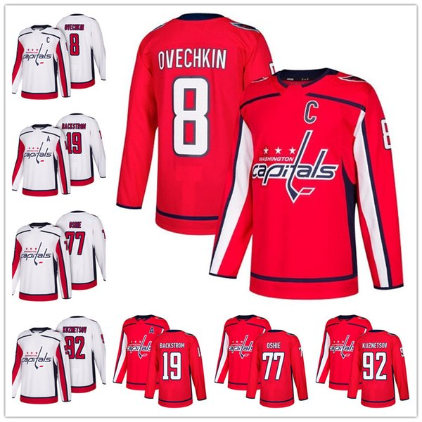 71eb39b56d8 ... Hockey Jerseys  . Hot Sale Washington Capitals 2018 Red Home 8  Alexander Ovechkin 77 T. J. Oshie 92 Kuznetsov 19