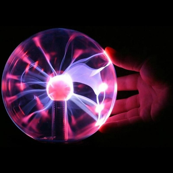 Plasma Magic Ball USB Black Base Glass Plasma Ball Sphere Lightning Party Lamp Light,3 inch Magic Plasma Ball Retro Light for child gift