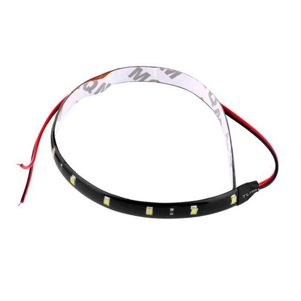 30cm 12V 15 LED Car Auto Motorcycle Waterproof Strip Lamp Flexible Light#11010