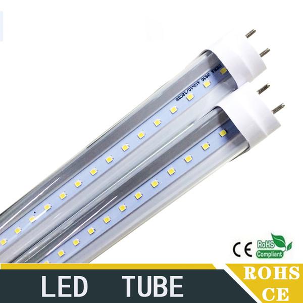 4ft / 1.2mT8 Tubo LED 18W G13 LED Tubos Luz Repalcement Fluorescente Tubo de la lámpara 1200MM SMD2835 LED Luz de la bombilla al por mayor envío gratis