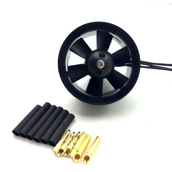 QX-Motor 30mm 6 Blades Ducted Fan EDF QF1611 5000KV Brushless Motor For DIY RC Airplanes Model Accessories Parts