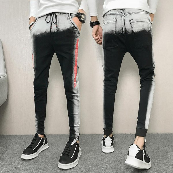 Men Skinny Jeans Pants Biker Denim Fashion Jeans Winter 2018 Men's Slim Tide Social Guy