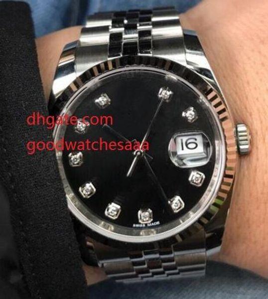 gli orologi di lusso del calendario degli uomini di lusso 116234 orologi automatici mens degli uomini automatici meccanici di alta qualità di vetro dello zaffiro di 36mm