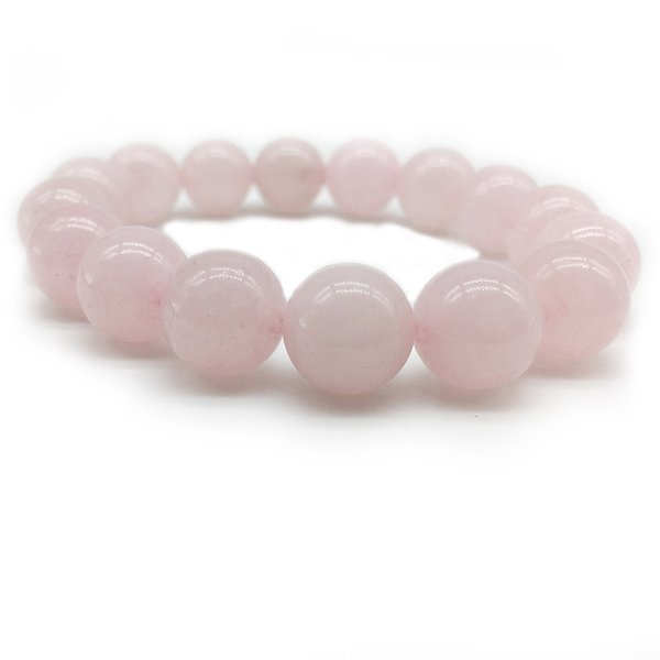 Ethnic 4mm 8mm 10mm Pink Rose Color Quartz Natural Stone Streche Bracelet Elastic Cord Pulserase Jewelry Beads Lovers woman Gift