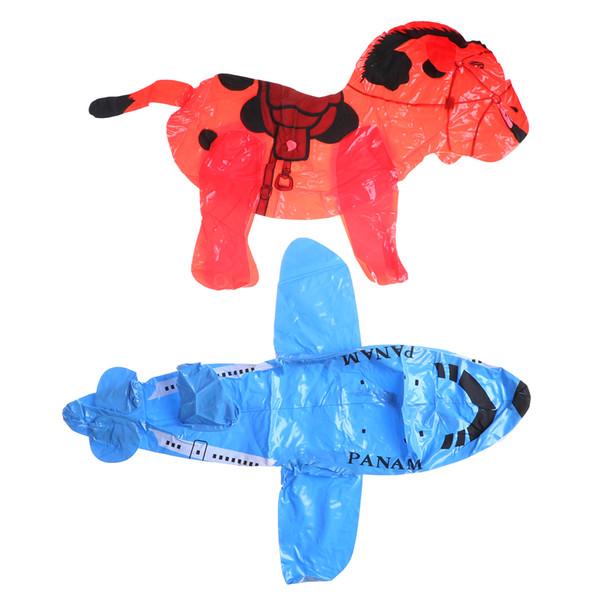 Inflatable Cartoon PVC Plastic Balloon, Airplane Horse Swan Plane Toy BalloonToys Kids Birthday Party Decor