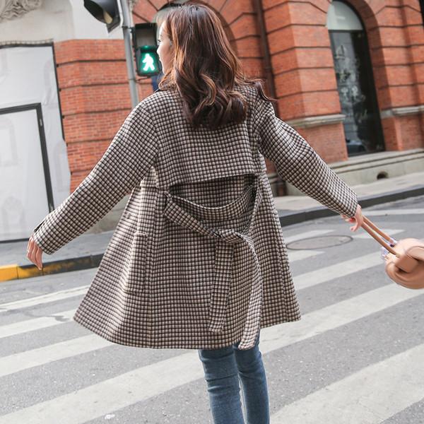 3a3f7e3e1183c 2018 yeni stil kadın giyim, sonbahar ve kış yetiştiriciliği, orta uzunlukta  yün ceket,