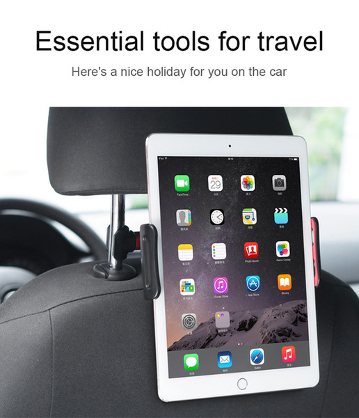 Backseat tablet PC stand headrest holder support for ipad car back seat Mobile phone holders stands Universal 360 Rotating For 4-11 inch