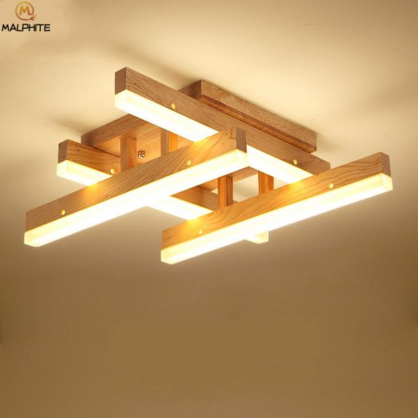 Großhandel Moderne Holz LED Deckenleuchte Innen Wohnzimmer LED Licht Decke  Für Schlafzimmer Beleuchtung Leuchte Home Decor Lamparas Von Amarylly, ...