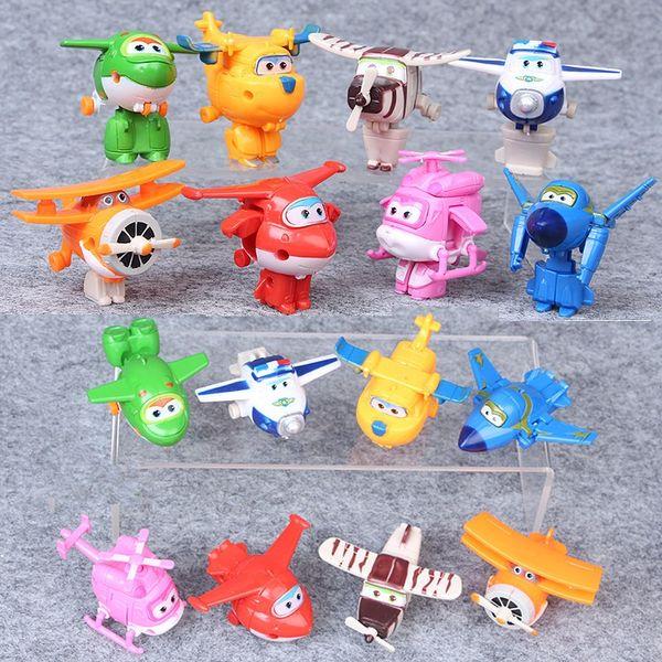 Figuras de acción Super Wings Juguetes 8 piezas Deformable Super Wings Toy 5cm Super Wings Juguetes para niños