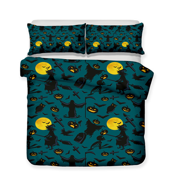 Halloween Element Pattern Printed Bedding Sets All Sizes Pillow Case Quilt Cover Duvet Cover
