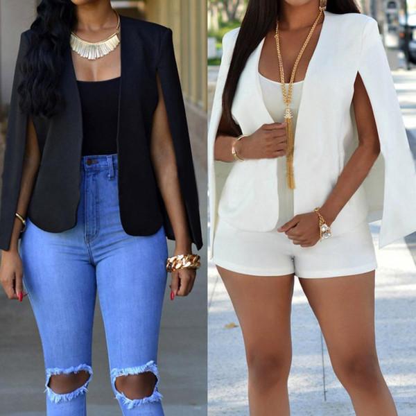 KANCOOLD coats Blazers Women Loose Short Cloak Blazer Coat Cape Cardigan Outwear Trench coats and jackets women 2018JUL27