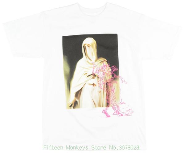 O neck Oversize Style Tee Shirts Styles Veiled Existence T-shirt Mens White