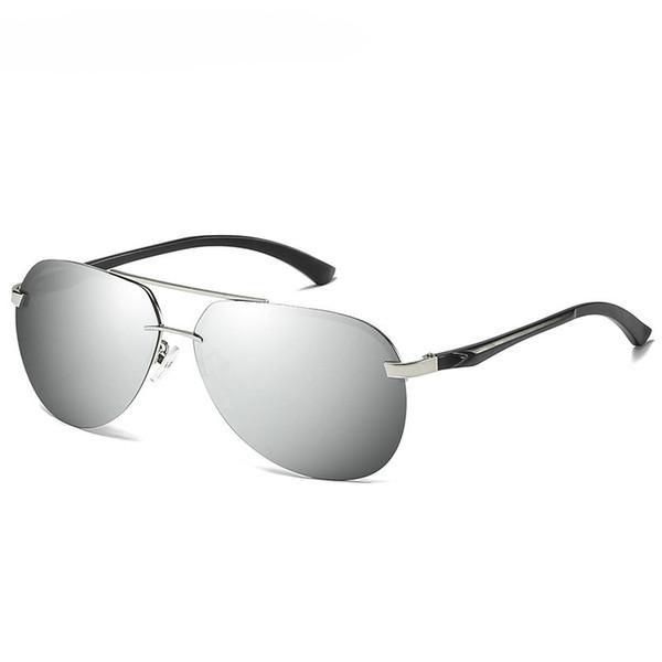 Silver frame+silver lenses