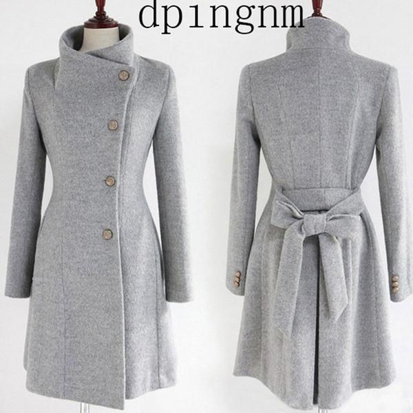 Neue Mode Lange Trenchcoat Für Frauen 2018 Frühling Herbst frauen Wollmischung Mantel Weibliche Einreiher Trenchcoat Femme