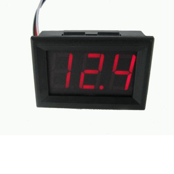 DC4.5V-30.0V Mini Voltímetro Probador Prueba de Voltaje Digital 2 Cables para Auto Car LED Display Indicador KKA4534
