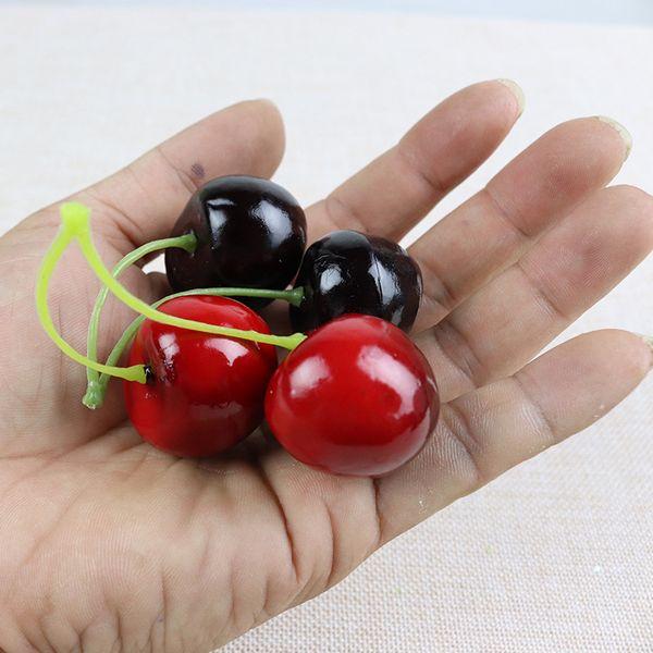 Simulação Cerejas Cereja Simulação Frutas Adereços Espuma Falso Fruta Decorativa Material Novidade Item Um Pacote de 100 pcs