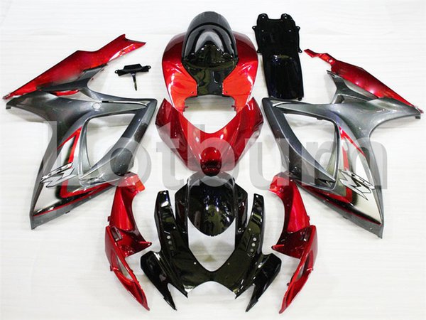 Custom Made Motorcycle Fairing Kit Fit For Suzuki GSXR GSX-R 600 750 GSXR600 GSXR750 2006 2007 K6 06 07 ABS Fairings fairing-kit A325