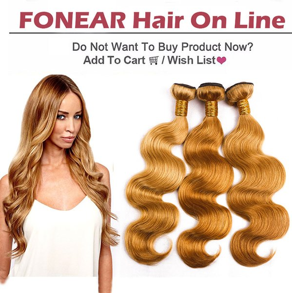 Chinese 100% Virgin Hair Body Wave Bundles Light Brown Hair Weaves Unprocessed Cheap Extensions 27# Free Shipping