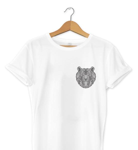 Graphic Tiger Pocket Print T-Shirt Hipster Design Urban Art Mens Girls Tee Top Cool Casual pride t shirt men Unisex New Fashion