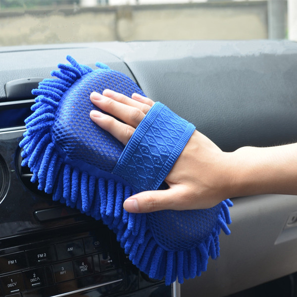 best selling Car Cleaning Brush Cleaner Tools Microfiber Super Clean Car Windows Cleaning Sponge Product Cloth Towel Wash Gloves Auto Washer