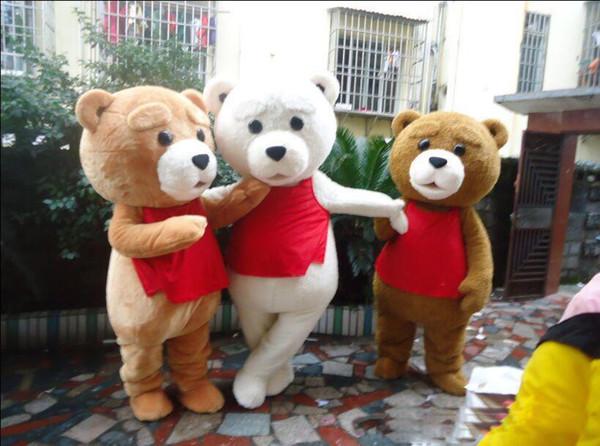 2018 venda Quente tamanho adulto ursinho de pelúcia traje da mascote dos desenhos animados boneca jogar anime show de roupas frete grátis