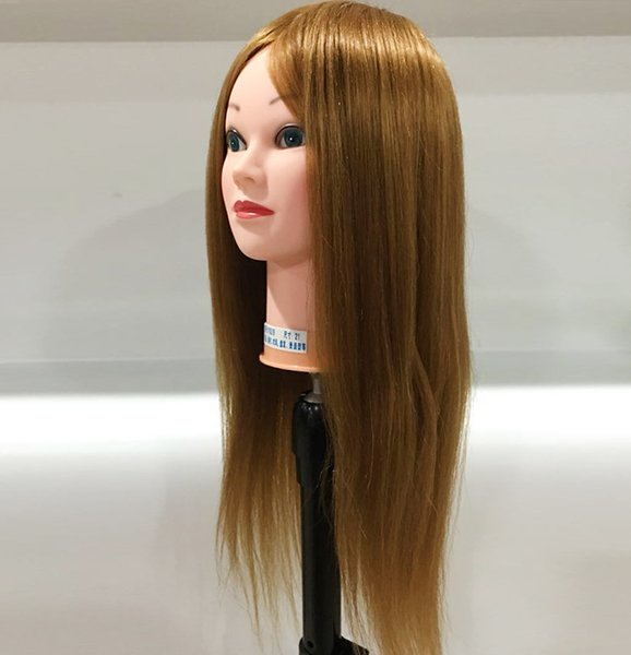 40% human hair Training Head can be curly Professional Mannequin hairdressing dolls head Female Mannequin Hairdressing Styling