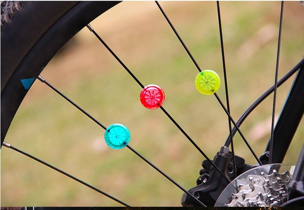 Colorful Bicycle Lamp Bike Cycling Waterproof LED High/Flash Mode Tyre Wheel Spoke Lights With Screwdriver