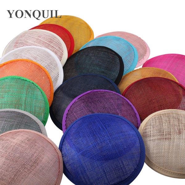 2017 Çoklu Renk için 13 CM YUVARLAK SINAMAY Fascinator Baz malzeme bayanlar Başlığı Yeni DIY Kadınlar Parti Fascinator Şapka 12 adet / grup ...