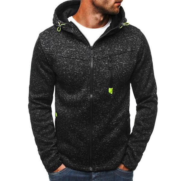 Hommes à manches longues à glissière Manteau Bodybuilding Streetwear Fitness Sweatshirt Entraînement Survêtement Pour La Formation Automne Hiver Vêtements