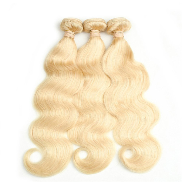 Body Wave Blonde Human Hair Weaves Malaysian Virgin Unprocess Hair #613 Color 8A Grade Body Wave Hair Extension Fast Shippng by DHL