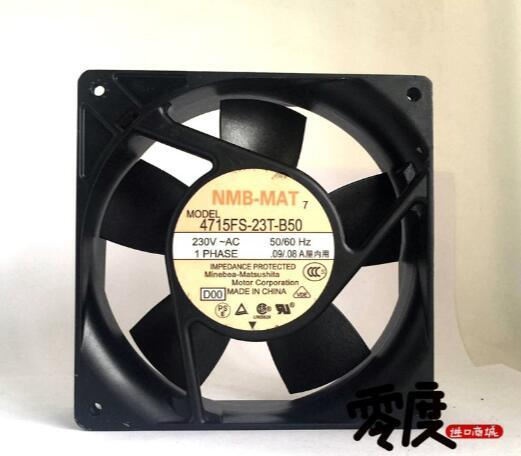 original NMB 12038 12 cm 230 V 4715FS - 23T - B50 0.09A / 0.08A dual ball frequency converter high - end fan