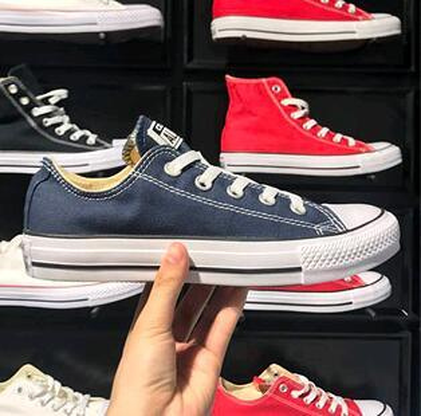 EUR35-45 Nueva estrella conver zapatos de lona de las mujeres y los hombres, zapatos de lona de estilo clásico alto / bajo zapatillas de deporte zapato de lona