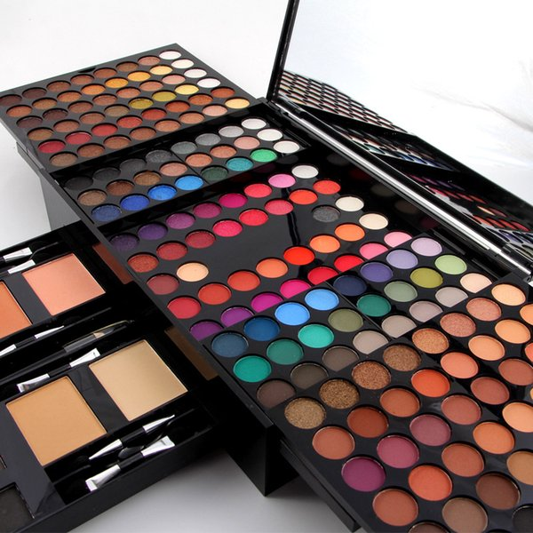 Professional Brand Full Make Up Kit Waterproof Pigmented Eyeshadow Blush Powder Eyebrow Color Cosmetic Miss Rose Makeup Gift Set