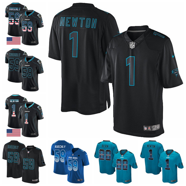 online store 6ecc9 09847 2018 Carolina Limited Football Jersey Panthers Royal Blue 2018 Pro Bowl 22  Christian Mccaffrey 1 Cam Newton 59 Luke Kuechly From Tophotnewfive, $31.48  ...