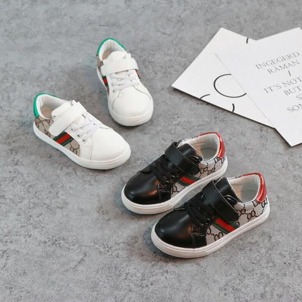 Nueva marca de zapatos para niños 2018 Zapatillas de lona de moda para niños Planas para niños, niños, mocasines, zapatillas de deporte, zapatos de bebé para deportes