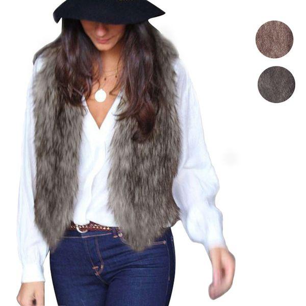 New 2018 spring Women Vest Sleeveless Coat work wear Long Hair Jacket Waistcoat Women Coat Casual colete feminino large size