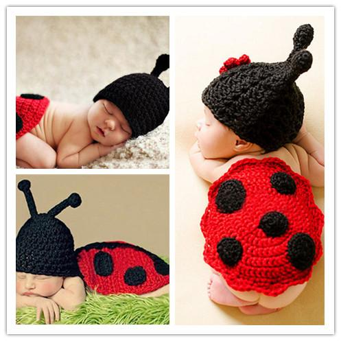 Infant BABY Hand Knitted Animal Costume Baby Crochet Hat&Butt Cover Set Animal Designs Baby Crochet Photo Props