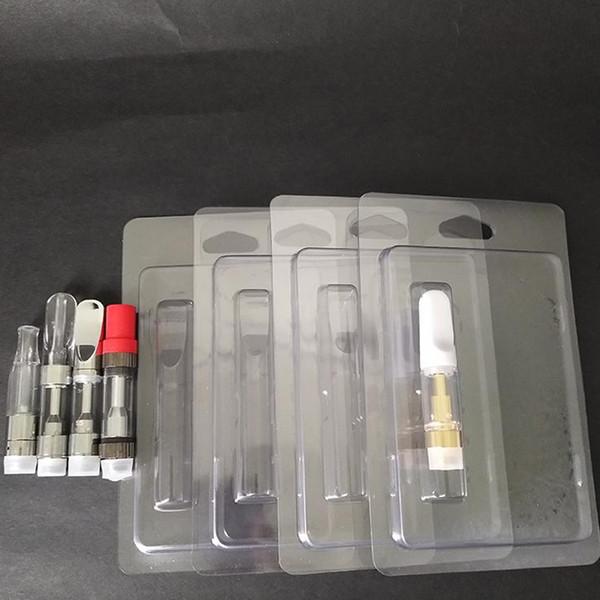 Imballaggio al dettaglio Imbottitura in plastica Clamshell Clam Shell Imballo per cartucce di olio Vape 1,0 ml 92A3 G2 th205 Vapor Packaging 510 Imballaggio del carrello