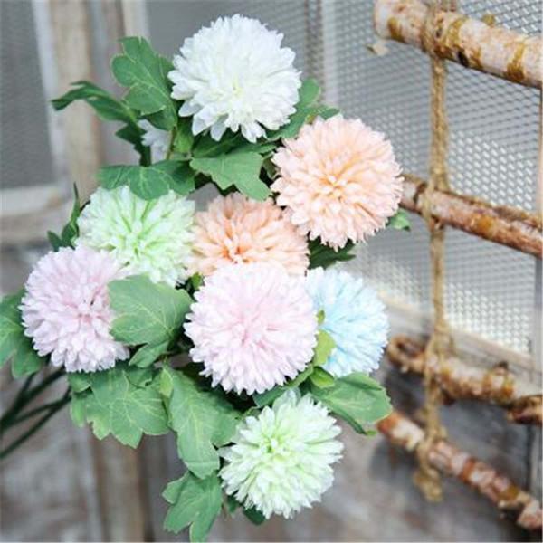 Artificial Potted Dandelion Hyacinth Emulation Bonsai Artificial Flowers Fake Green Pot Plants Ornaments Home Decor Small Bonsai
