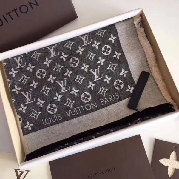 Top Qualtiy luxe marque foulard lettre modèle femmes écharpe en laine de soie écharpe de créateur en cachemire châle dames écharpes chaudes taille 180x80cm