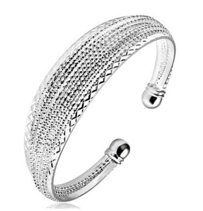 925 silver New 10 piece/lot Product Charm Handmade Bright Open Adjustable Bangles Antique 925 Silver Bracelets Bangles
